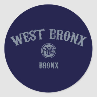 West Bronx Classic Round Sticker