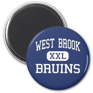 West Brook - Bruins - High School - Beaumont Texas 2 Inch Round Magnet