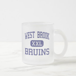 West Brook - Bruins - High School - Beaumont Texas 10 Oz Frosted Glass Coffee Mug