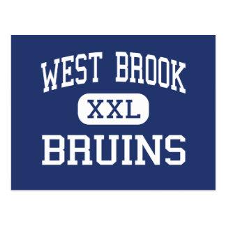 West Brook - Bruins - High School - Beaumont Texas Postcard