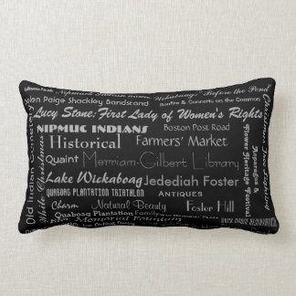 West Brookfield, MA Throw Pillow