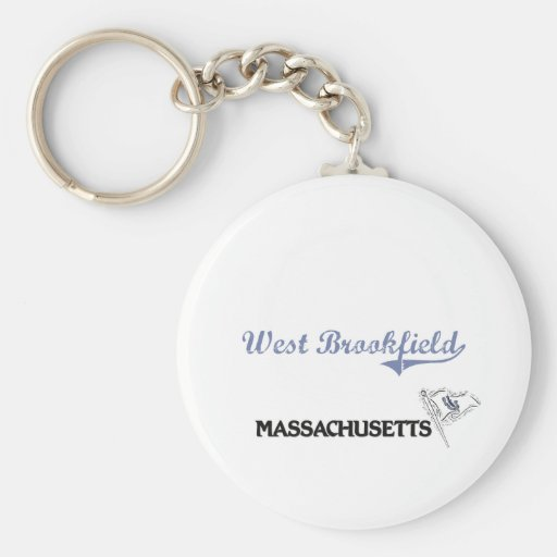 West Brookfield Massachusetts City Classic Keychain