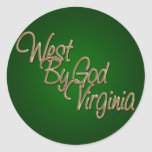 West by God Virginia_2 Round Stickers