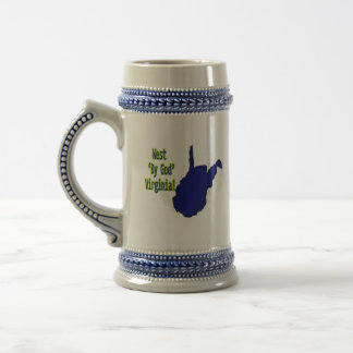 West 'By God' Virginia mug