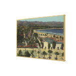 West Cabrillo Blvd & Municipal Swimming Pool Gallery Wrapped Canvas