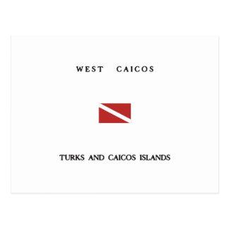 West Caicos Turks and Caicos Islands Scuba Dive Postcard
