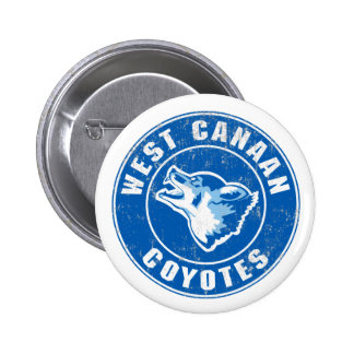 West Canaan Coyotes 2 Inch Round Button