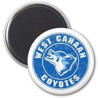 West Canaan Coyotes 2 Inch Round Magnet