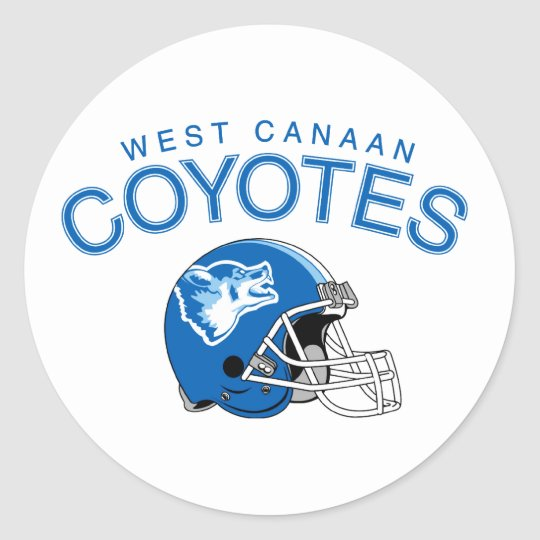 West Canaan Coyotes Classic Round Sticker