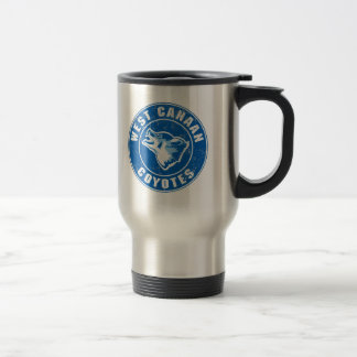 West Canaan Coyotes 15 Oz Stainless Steel Travel Mug