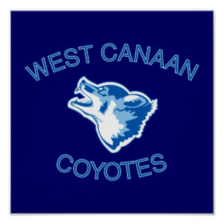 West Canaan Coyotes Poster