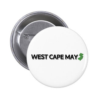West Cape May New Jersey Pinback Button