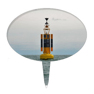 West Cardinal Buoy Cake Topper