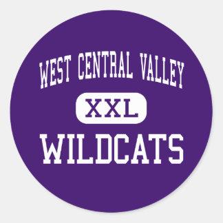 West Central Valley - Wildcats - High - Stuart Classic Round Sticker