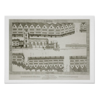 West Cheap as it appeared in the year 1585, engrav Poster