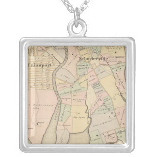 West Chester, Schuylerville, New York Silver Plated Necklace