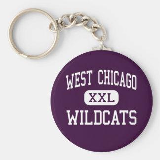 West Chicago - Wildcats - High - West Chicago Keychain