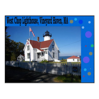 West Chop Lighthouse, Vineyard Haven, MA Postcard