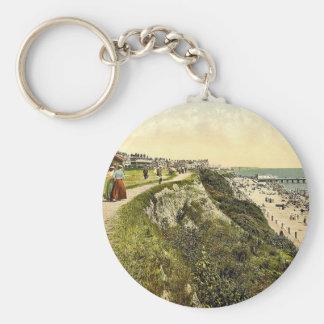 West cliff, Clacton-on-Sea, England classic Photoc Key Chain