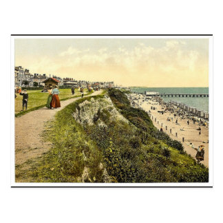 West cliff, Clacton-on-Sea, England classic Photoc Postcard