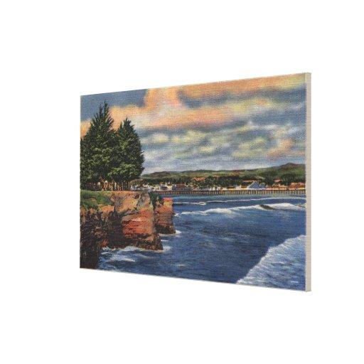 West Cliff Drive View of Pier and Casino Canvas Print