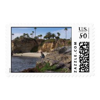 West Coast Beach Postage Stamp