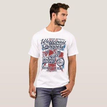 Beach Themed West Coast Choppers London UK, Long Beach T-Shirt