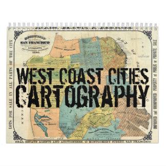 West Coast Cities Cartography Calendar