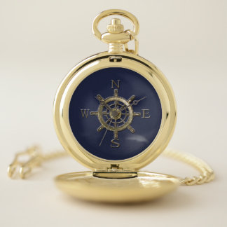 West Coast Compass Pocket Watch