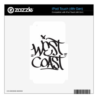 west coast decals for iPod touch 4G