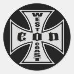 West Coast EOD (Black) Classic Round Sticker