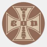 West Coast EOD (Desert Brown) Classic Round Sticker