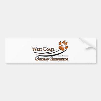 West Coast German Shepherds Fan Gear Bumper Sticker