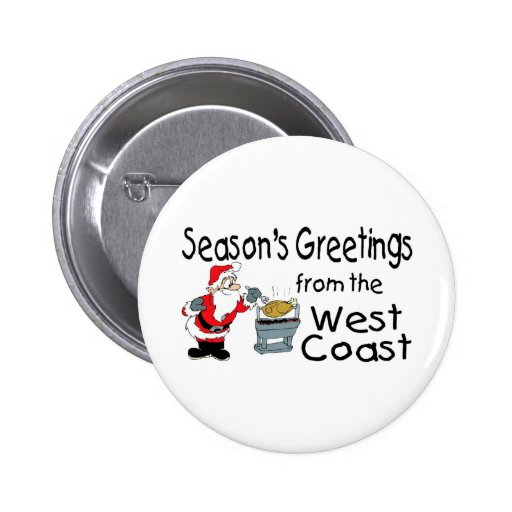 West Coast Greetings BBQ Button