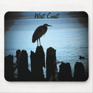West Coast moonlit bird Mouse Pad