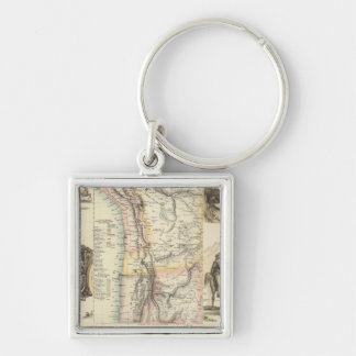 West Coast of South America Keychain