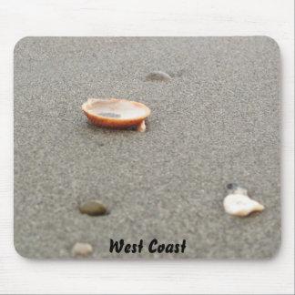 West Coast Shell on Beach Mouse Pad