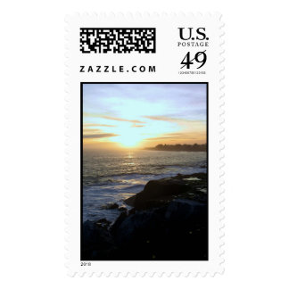 West Coast Sunset Postage Stamp