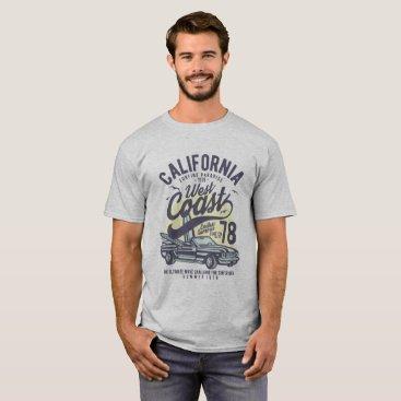 USA Themed WEST COAST - SURFING PARADISE T-Shirt