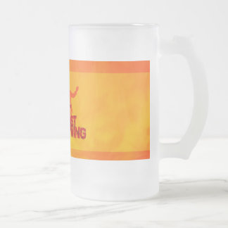 West Coast Swing Frosted Glass Beer Mug