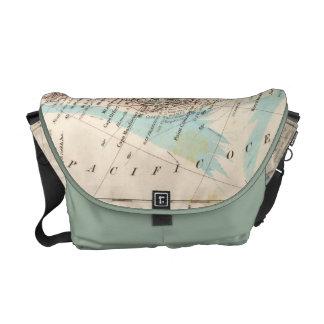 west coast US map Courier Bag