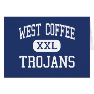 West Coffee Trojans Middle Douglas Georgia Greeting Card