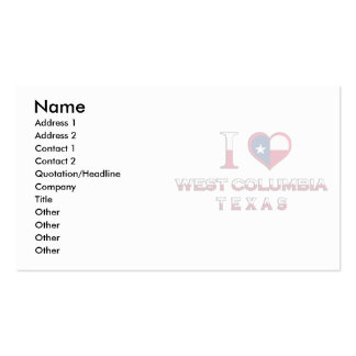 West Columbia, Texas Business Card Templates