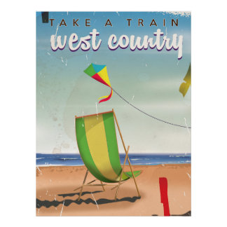 West Country, Great Britain travel poster