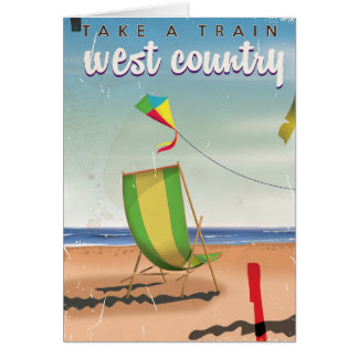 West Country, Great Britain travel poster Card