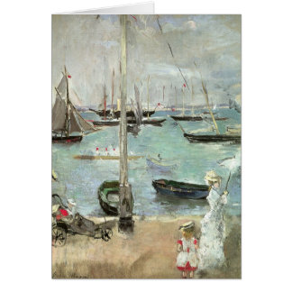 West Cowes Isle of Wight Morisot Vintage Art Greeting Card