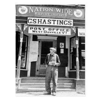 West Danville, VT, Post Office, 1940s Postcard
