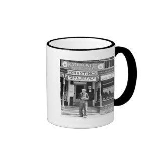West Danville, VT, Post Office, 1940s Ringer Mug