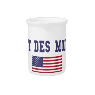 West Des Moines US Flag Drink Pitcher