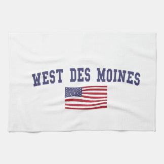 West Des Moines US Flag Towel